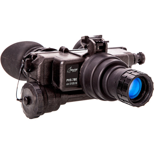 Bering Optics 1x22 PVS-7BE Elite 3rd Gen Thin Film Night Vision Bi-Ocular & Headgear Kit
