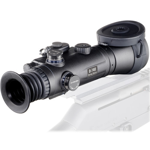 Bering Optics D-740 4x69 Premium Night Vision Riflescope (3rd Gen Filmless, White Phosphor, Red-Green Mil-Dot Reticle)