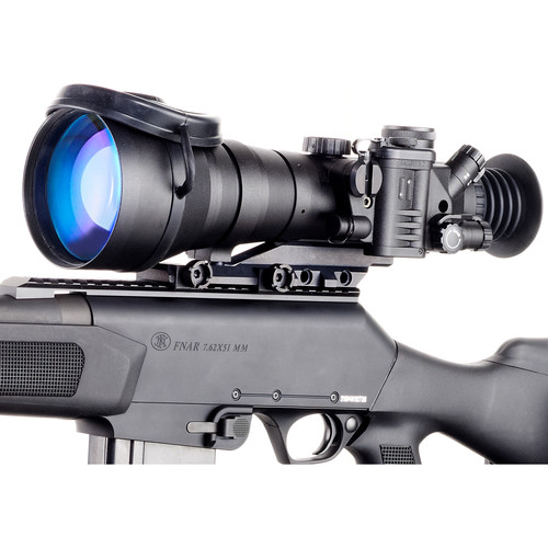 Bering Optics D-790 Elite 6x83 High-Quality 3rd-Gen Night Vision Riflescope (Filmless, White Phosphor, Red-Yellow Mil-Dot Reticle)