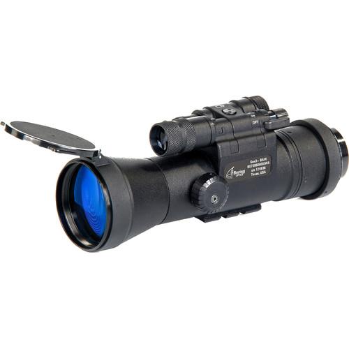 Bering Optics D-950 Elite 1x High-Quality 3rd-Gen Night Vision Riflescope Clip-On (Filmless, White Phosphor Tube, Matte Black)