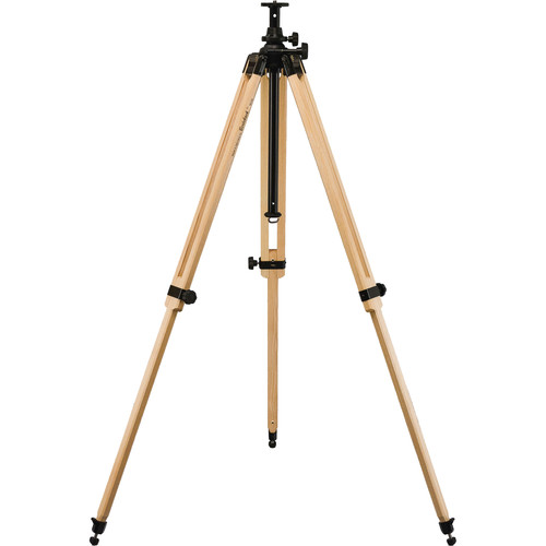 Berlebach Report 242 Section Wood Tripod Leveling Ball with Center Column