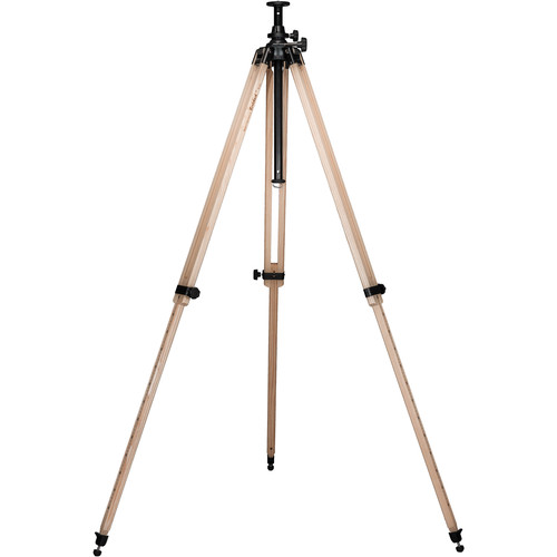Berlebach Report 342 Section Wood Tripod Leveling Ball with Center Column