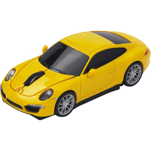 Automouse Porsche Carrera S 2.4 GHz Wireless Mouse (Yellow)