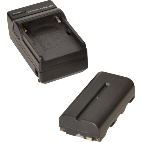 Bescor NPF-Style Non-Decoded 7.4V 2200mAh Battery & Universal 18W Automatic Battery Charger Kit