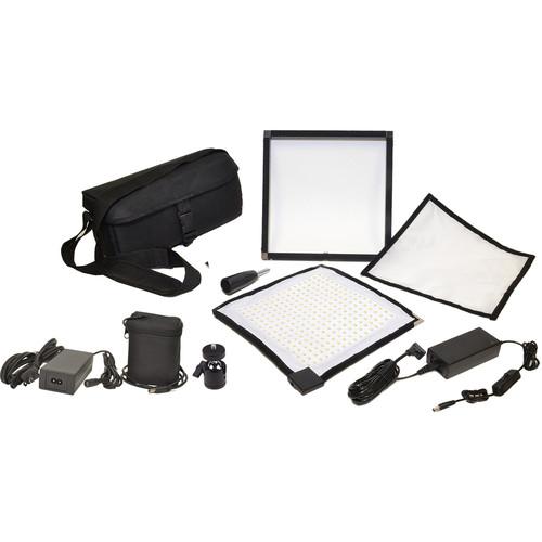 Bescor FM256 Flexible Bi-Color LED Light Mat with Swivel Ball Mount and Battery