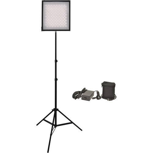 Bescor FM256 wIth Light Stand  24V Li-Ion Battery/ Autocharger Kit