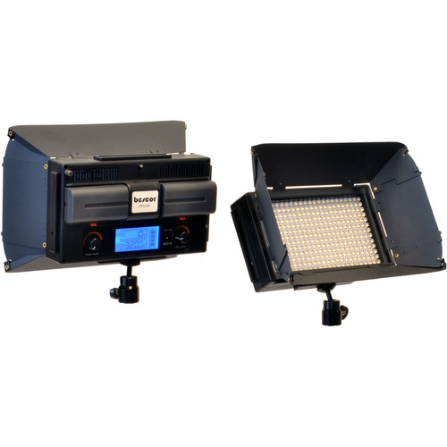 Bescor FP-312 On-Camera Bi-Color LED Light with Digital Display