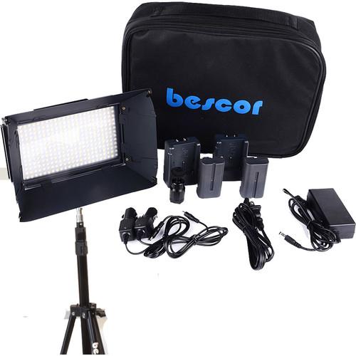 Bescor FP-312S 1-Point LED Light Kit with Light Stand