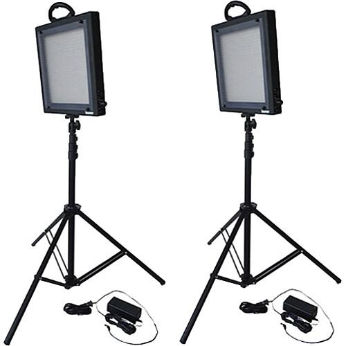 Bescor FP-500K Bi-Color LED Two Light Kit