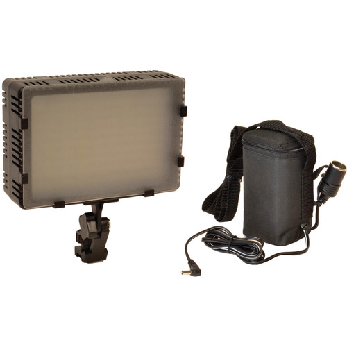 Bescor FP-180B Bi-Color Dimmable On-Camera Light and Battery Kit