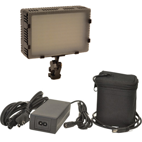 Bescor Field Pro FP-180 Bi-Color Dimmable On-Camera Light Kit with Battery and Charger