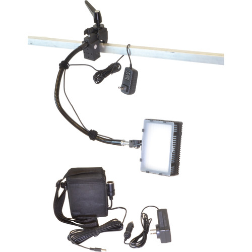 Bescor Grip-181B Gripper Gooseneck Bi-Color 1-Light Kit with Battery