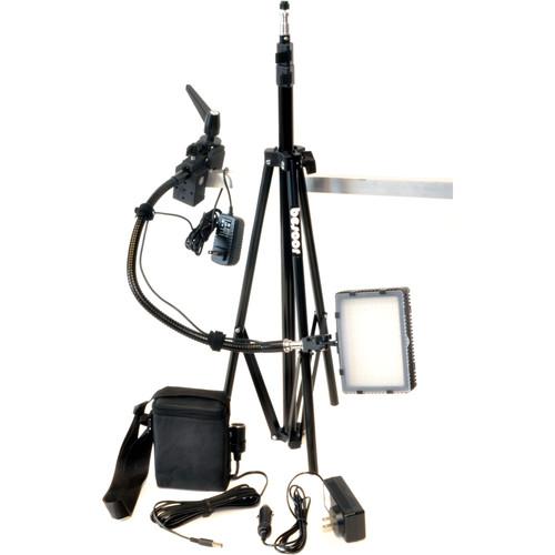 Bescor Grip-181KB Gripper Gooseneck Bi-Color 1-Light Kit with Battery and Light Stand