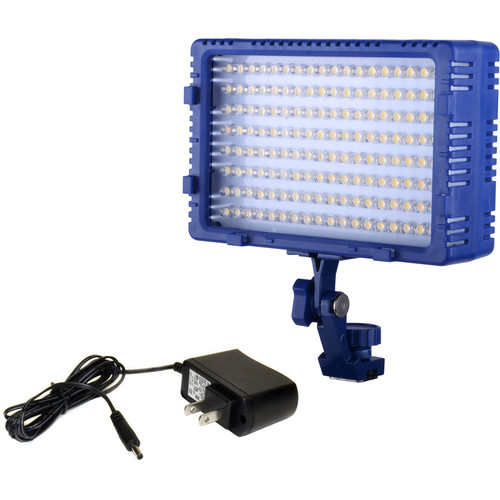 Bescor LED144 Studio/On-Camera Light with AC Power Supply