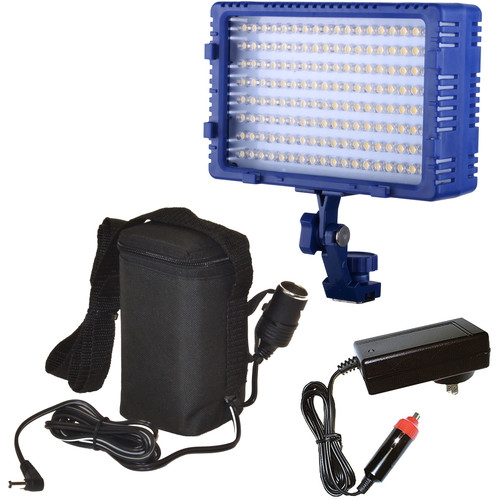 Bescor LED144 Studio/On-Camera Light with External Battery Pack