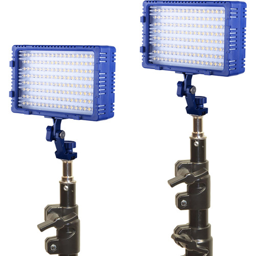 Bescor Dual LED144 Studio Kit with Stands