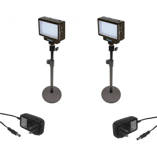 Bescor Dual LED70 Desktop Light Stand Kit