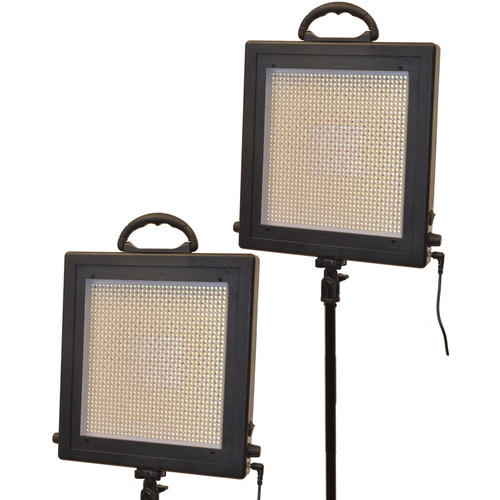 Bescor Field Pro Bi-Color LED-1000K 2 Light AC Kit