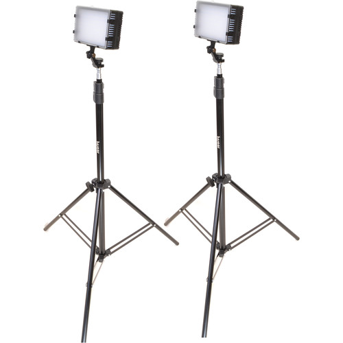 Bescor LED-125 Daylight Studio 2 Light Kit