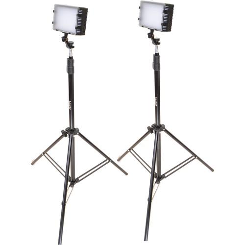 Bescor LED-125 Daylight Studio 2-Light Kit