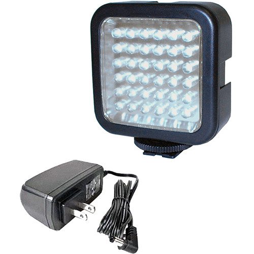 Bescor LED-40 On-Camera Light & AC Power Supply Kit