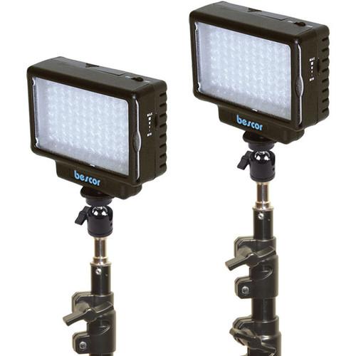 Bescor LED-70 Daylight Studio 2-Light Kit