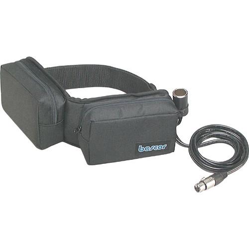 Bescor SLM-18XLRATM Slimline 12V Battery Belt Kit with Automatic Universal Charger