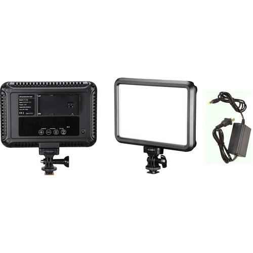 Bescor Specter Bi-Color On-Camera LED Interview Kit with 12V Power Adapter