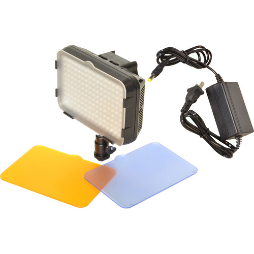 Bescor XT160 Bi-Color LED On-Camera Light with AC Adapter