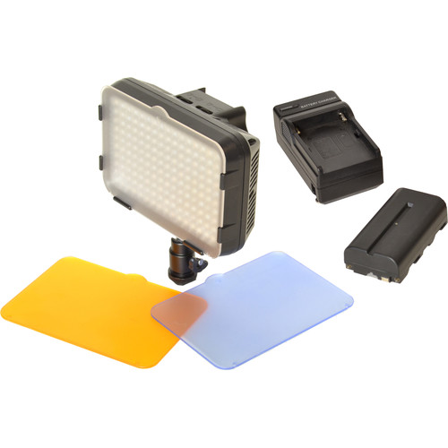 Bescor XT160 Bi-Color LED On-Camera Light with Battery and Charger
