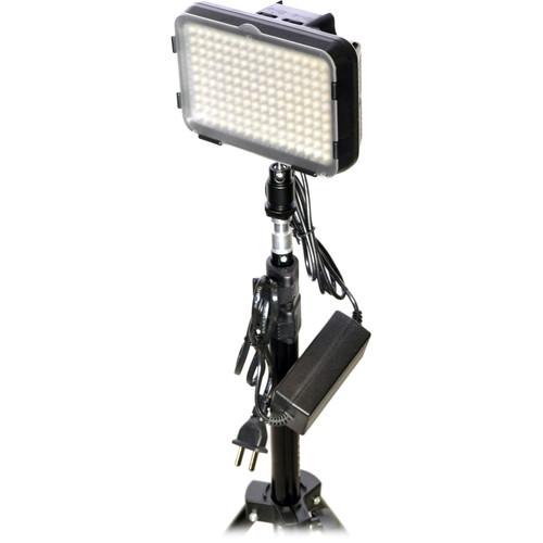 Bescor XT160 Bi-Color LED On-Camera 1-Light Kit with Stand