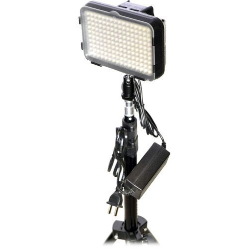 Bescor XT160 Bi-Color LED On-Camera 1-Light Kit with Stand