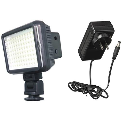 Bescor XT96 On-Camera Light Kit with AC Power Adapter