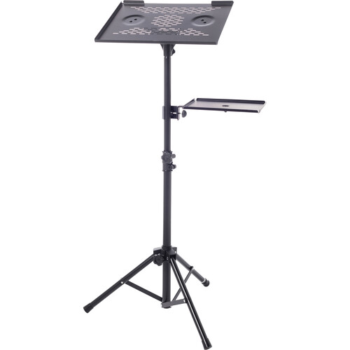 Bespeco LPS100 Adjustable Laptop or Projector Stand with Side Shelf