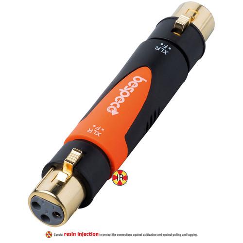Bespeco XLR Female to XLR Female Adapter (Black/Orange)