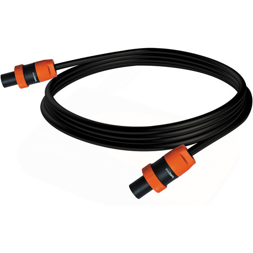 Bespeco 4x0.75/4-Pole Speaker Cable with Power (Black/Orange, 20')