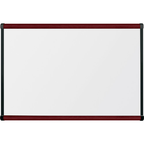 Best Rite Porcelain Steel Whiteboard with Mahogany Origin Trim (2 x 3')