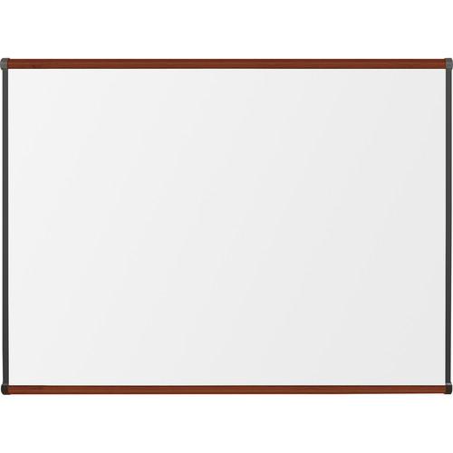Best Rite Porcelain Steel Whiteboard with Mahogany Origin Trim (3 x 4')