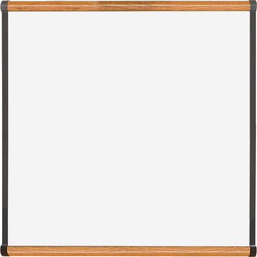 Best Rite Porcelain Steel Whiteboard with Medium Oak Origin Trim (4 x 4')