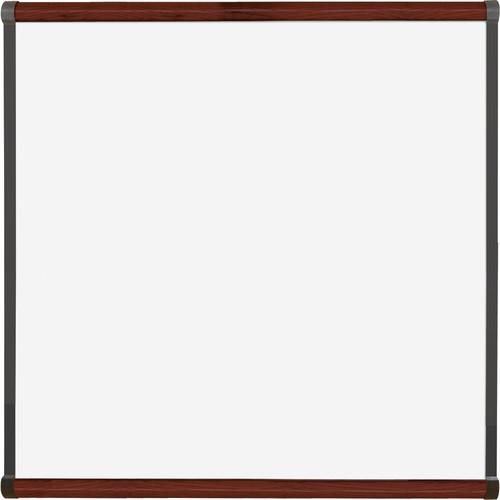 Best Rite Porcelain Steel Whiteboard with Mahogany Origin Trim (4 x 4')