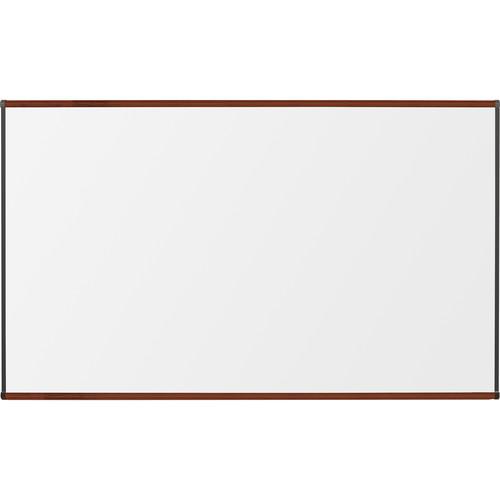 Best Rite Porcelain Steel Whiteboard with Mahogany Origin Trim (4 x 6')