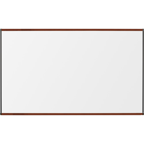 Best Rite Porcelain Steel Whiteboard with Mahogany Origin Trim (4 x 6')