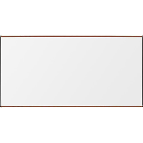 Best Rite Porcelain Steel Whiteboard with Mahogany Origin Trim (4 x 8')