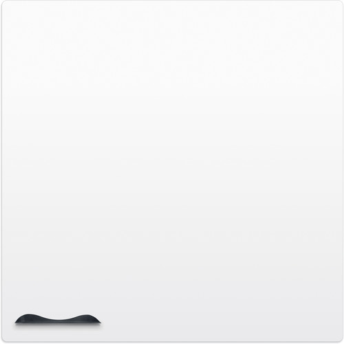 Best Rite Elemental Frameless Magnetic Whiteboard (4 x 4', Glossy Off-White)