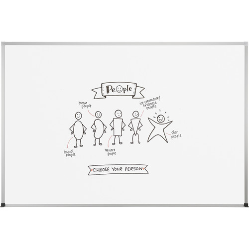 Best Rite Dura-Rite Whiteboard with ABC Trim (1.5 x 2')