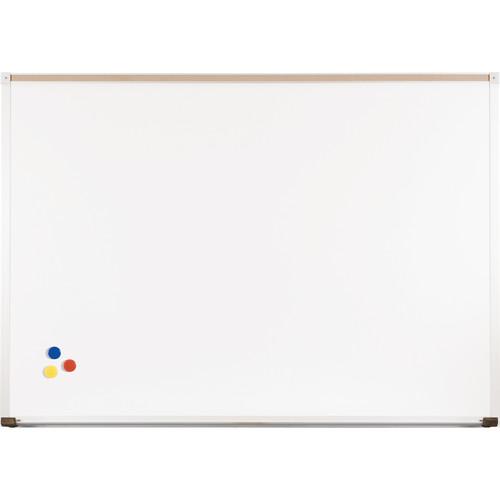 Best Rite Magne-Rite Whiteboard with Aluminum Trim & Map Rail (1.5 x 2')