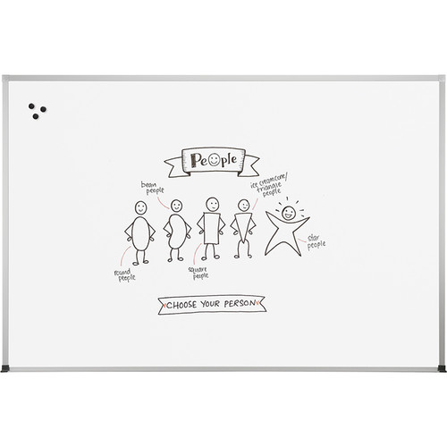 Best Rite Magne-Rite Whiteboard with Aluminum ABC Trim (3 x 4')