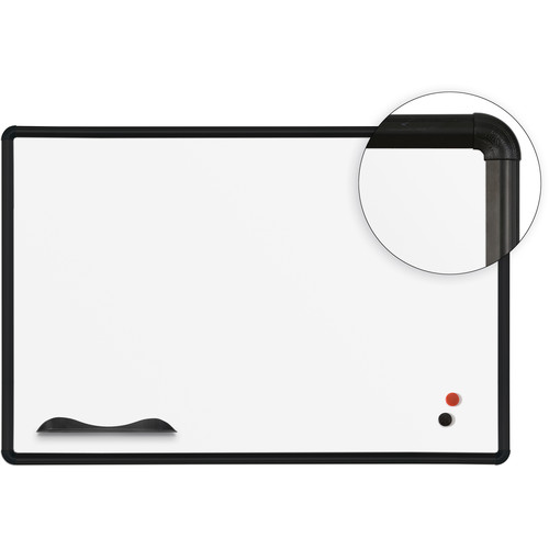 Best Rite Magne-Rite Whiteboard with Silver Presidential Trim (2 x 3')