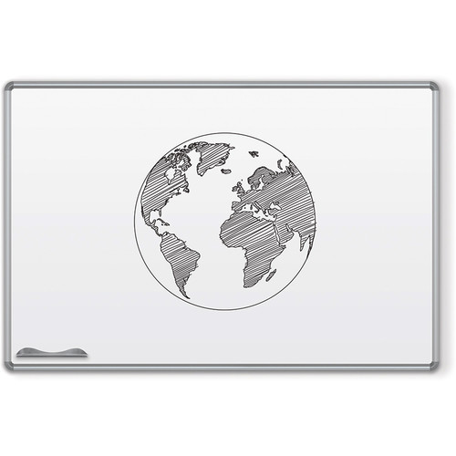 Best Rite Magne-Rite Whiteboard with Silver Presidential Trim (4 x 4')