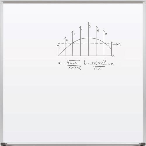Best Rite TuF-Rite Whiteboard with ABC Aluminum Trim & Map Rail (4 x 4')